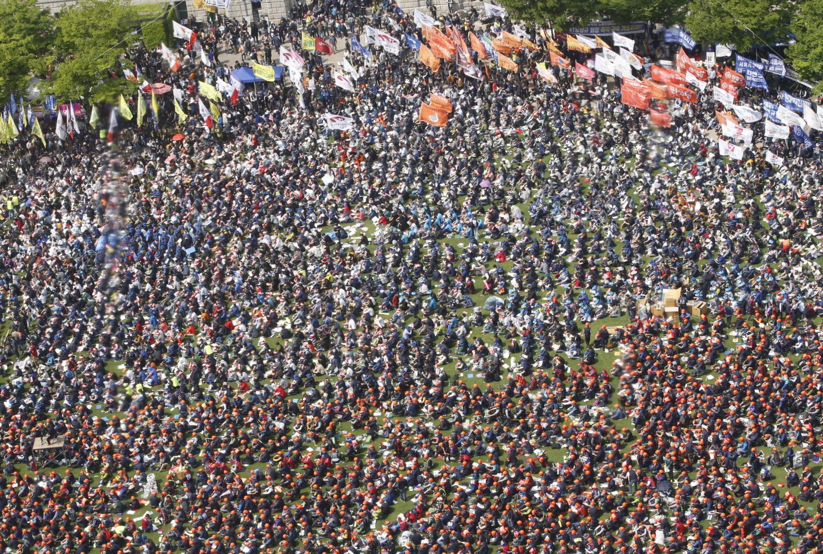 Święto Pracy w Korei Południowej EPA/KIM HEE-CHUL
