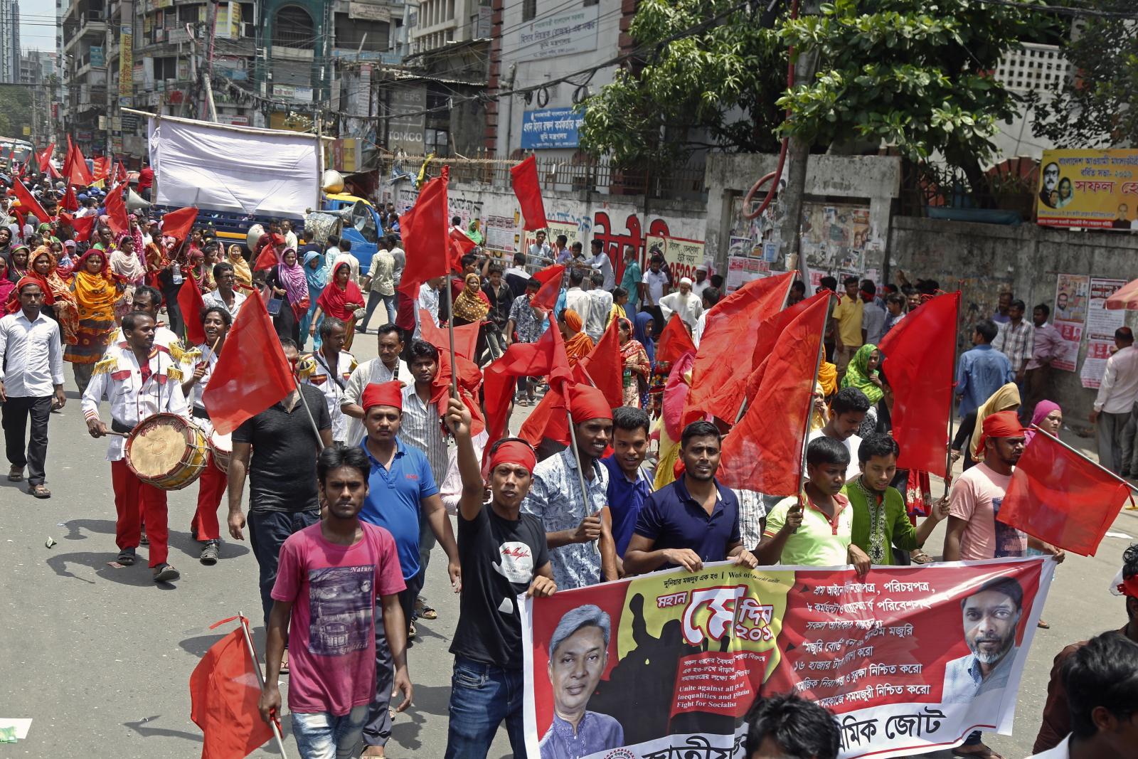 Święto Pracy w Bangladeszu EPA/MONIRUL ALAM