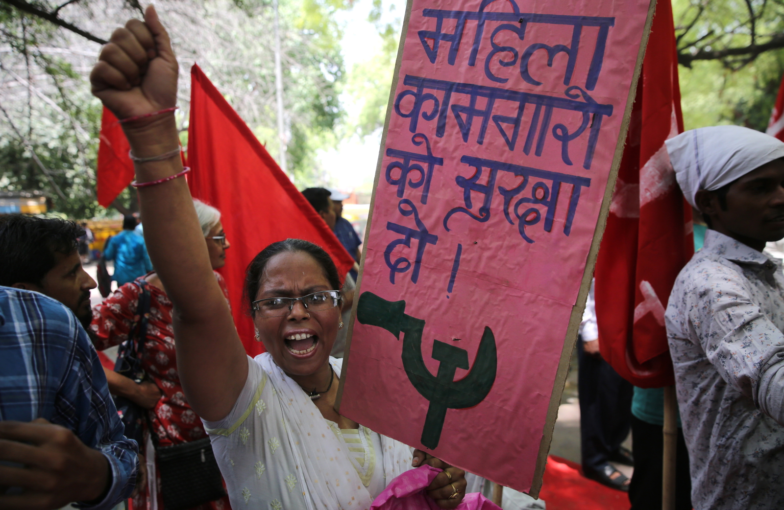 Święto Pracy w Indiach EPA/RAJAT GUPTA