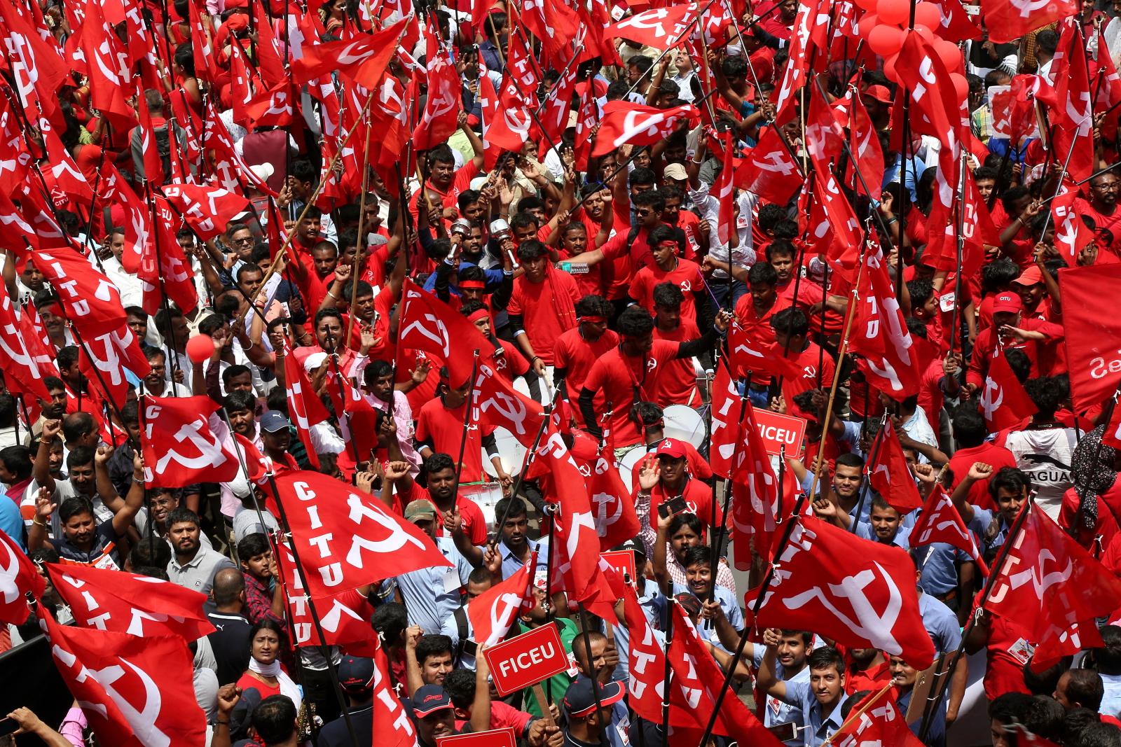 Święto Pracy w Indiach  EPA/JAGADEESH NV
