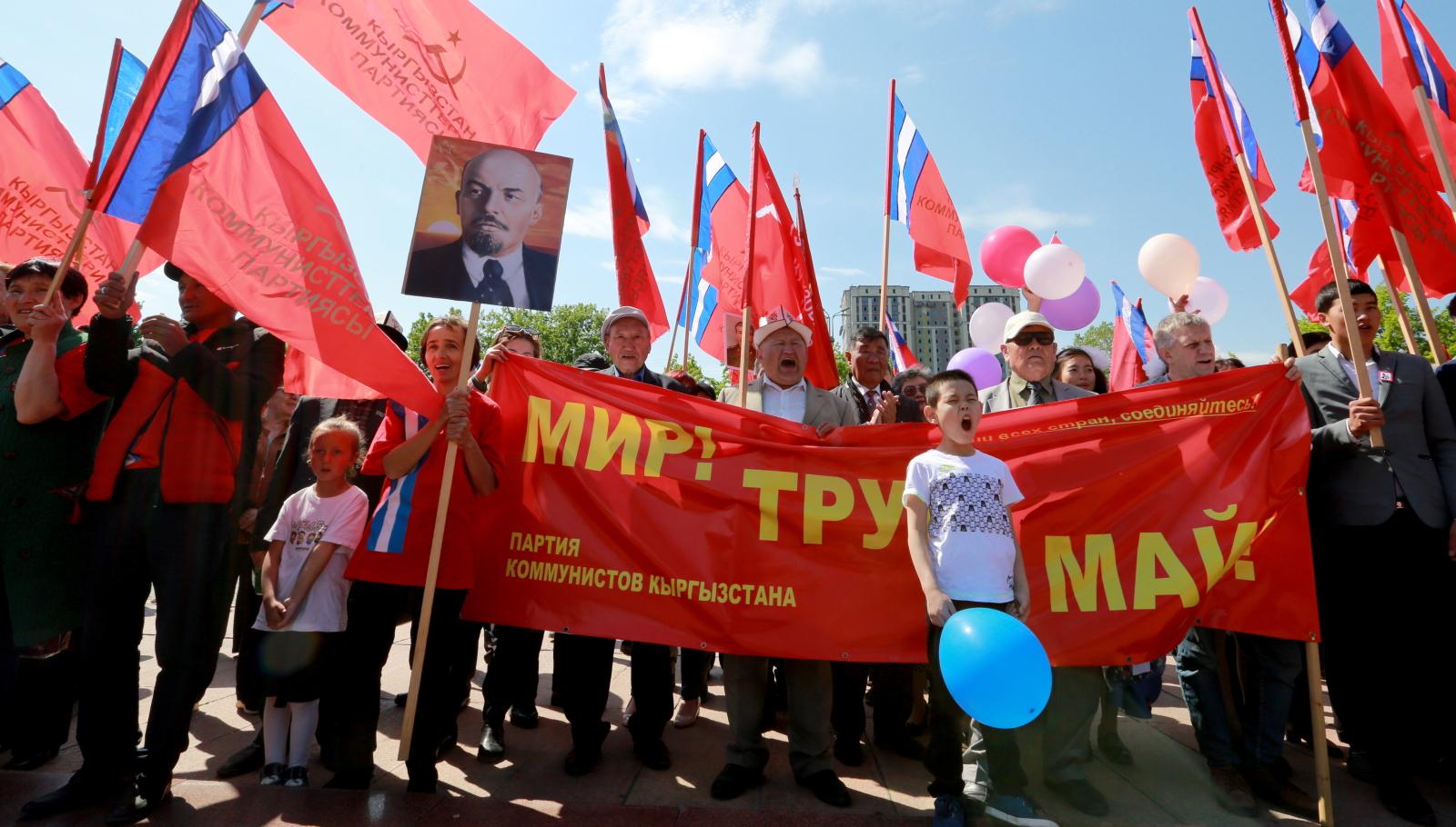 Święto Pracy w Kirgistanie EPA/IGOR KOVALENKO