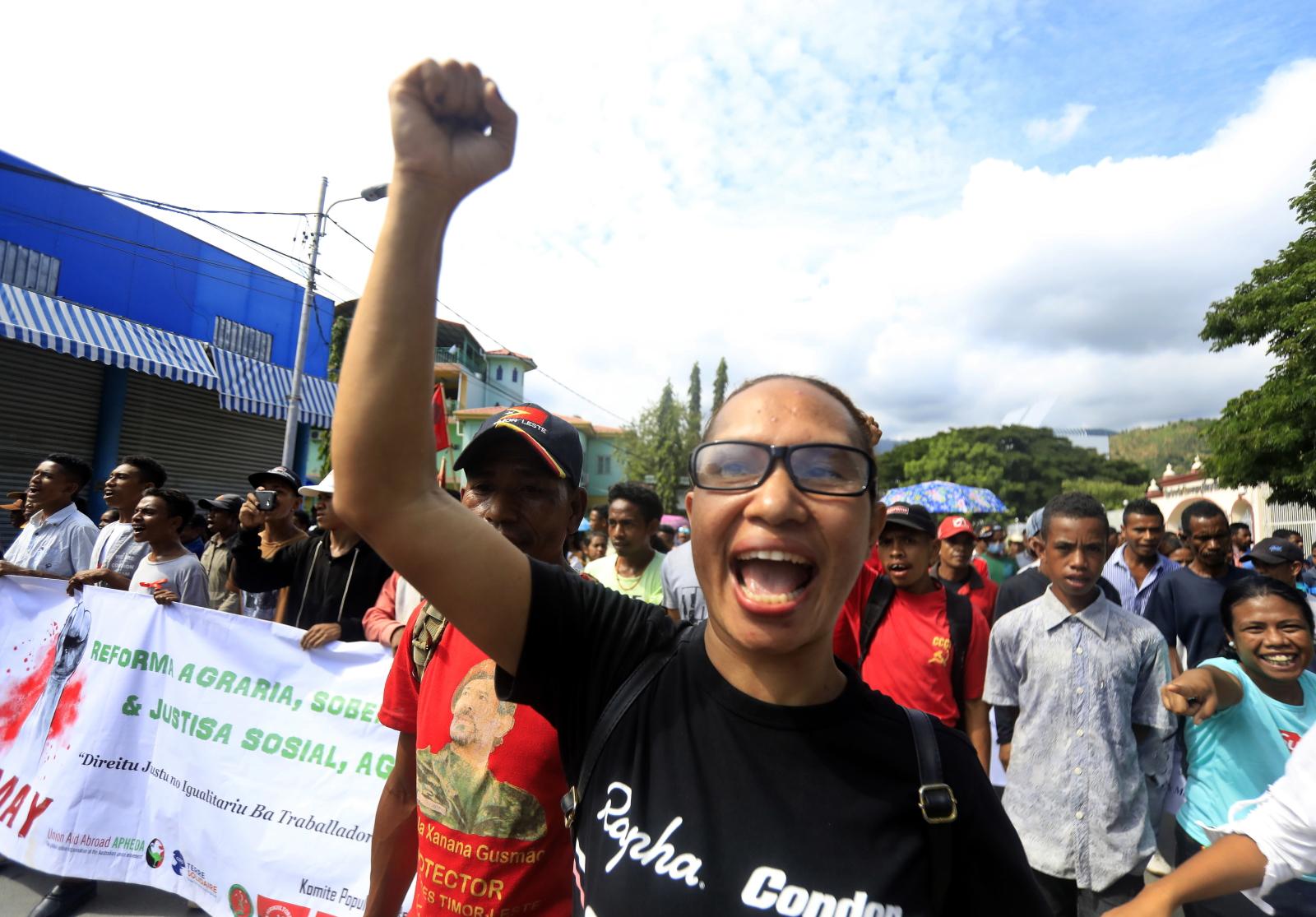 Święto Pracy w Timorze Wschodnim EPA/ANTONIO DASIPARU