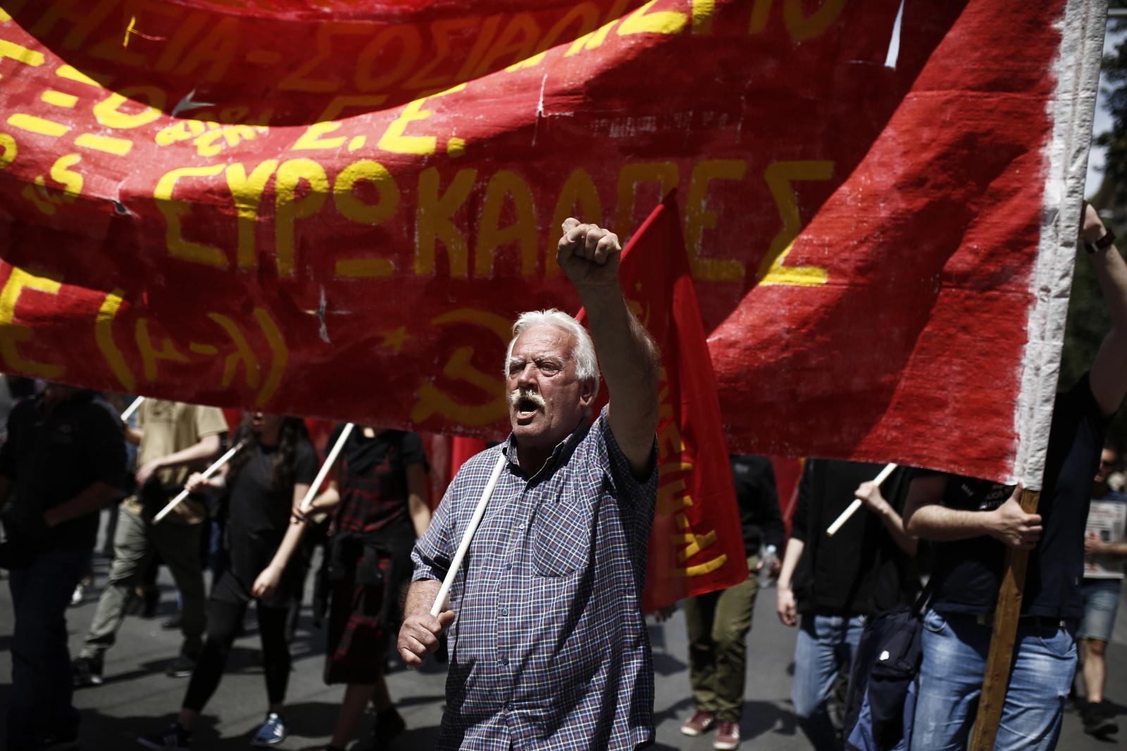Święto Pracy w Grecji EPA/YANNIS KOLESIDIS