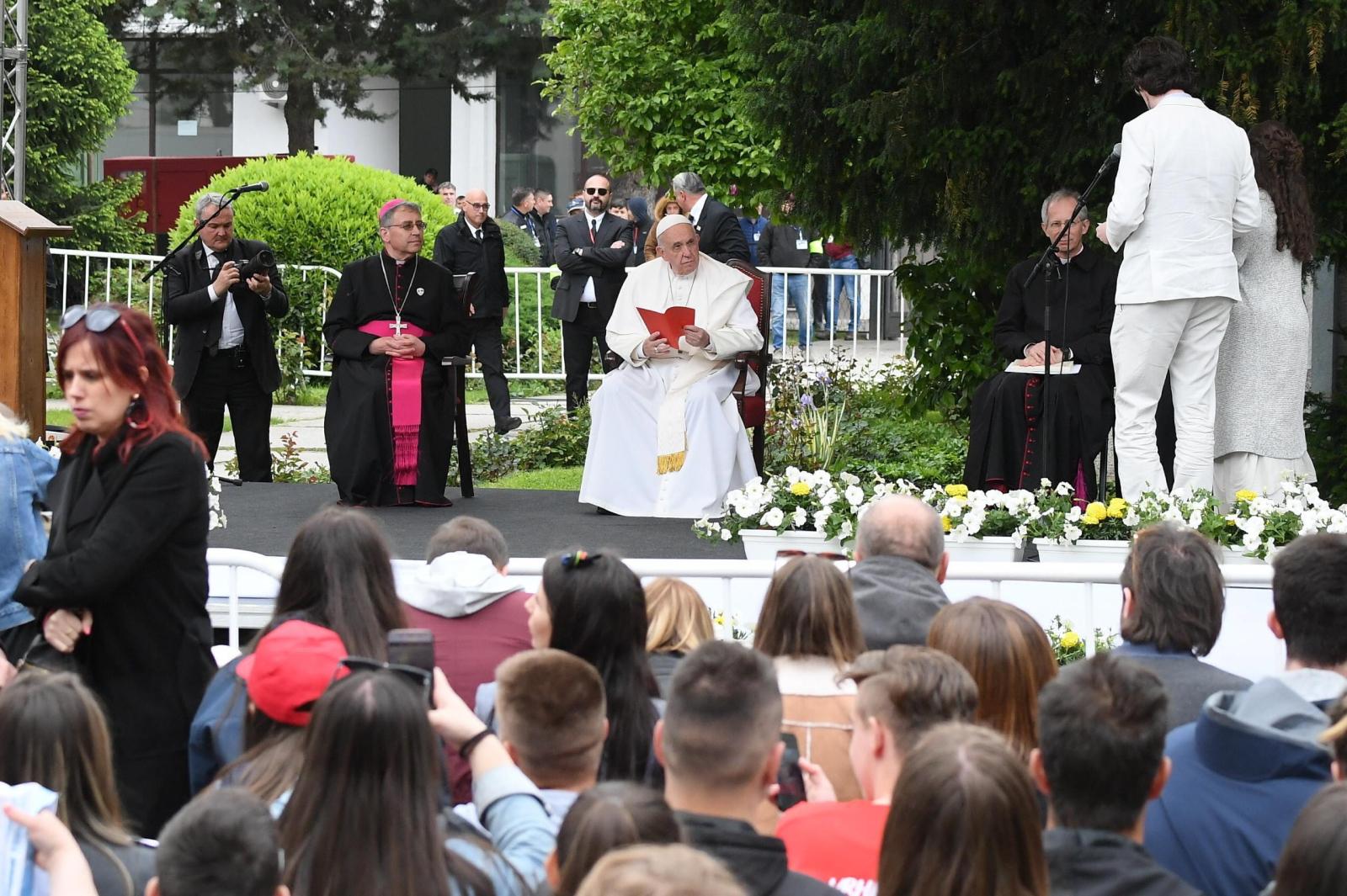 Papież Franciszek w Macedonii