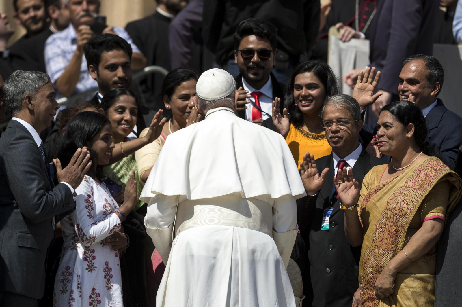 Papież Franciszek podczas audiencji środowej EPA/ANGELO CARCONI