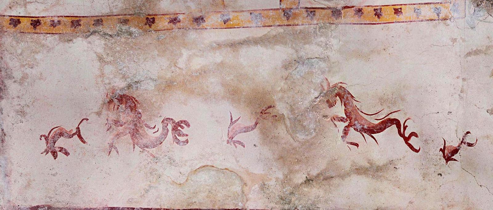 Odsłonięto ozdoby na ścianach Koloseum sprzed 2000 lat  EPA/FFICIO STAMPA PARCO ARCHEOLOGICO DEL COLOSSEO