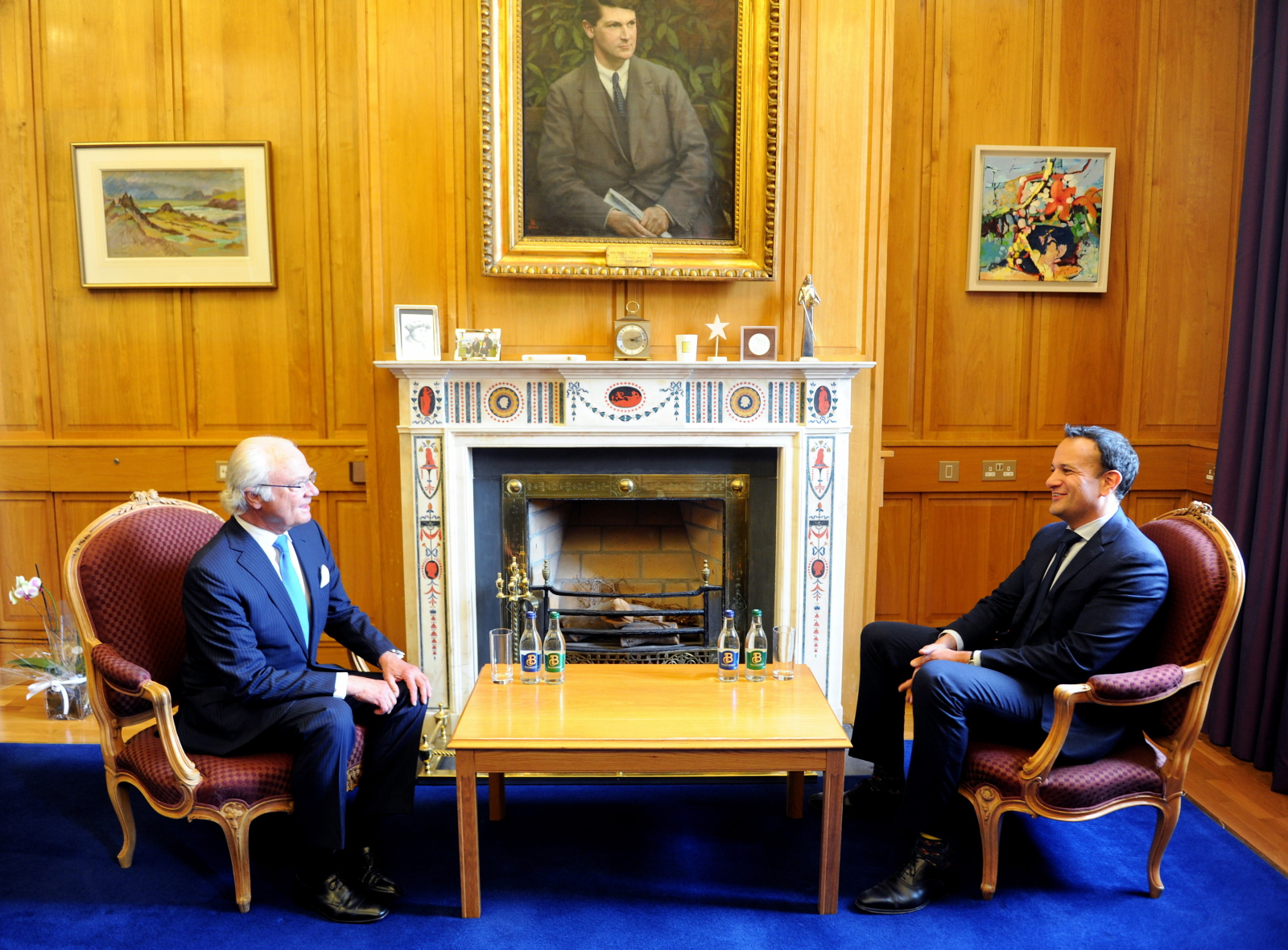 Król Szwecji z wizytą w Irlandii. Fot. PAP/EPA/AIDAN CRAWLEY