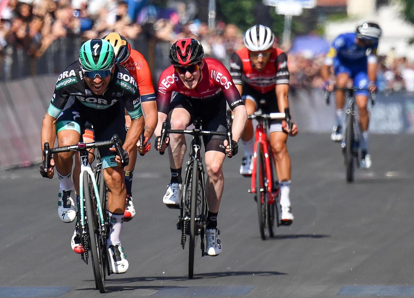 Cesare Benedetti wygrywa 12 etap Giro d'Italia. Fot. PAP/EPA/ALESSANDRO DI MEO