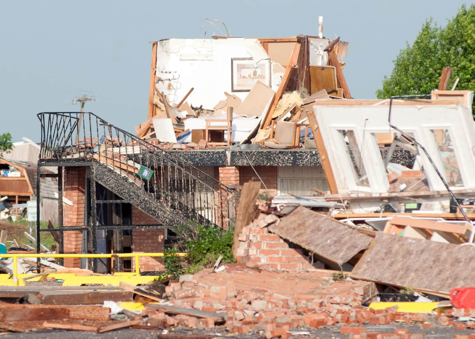 Tornado w Oklahomie fot. EPA/TORREY PURVEY