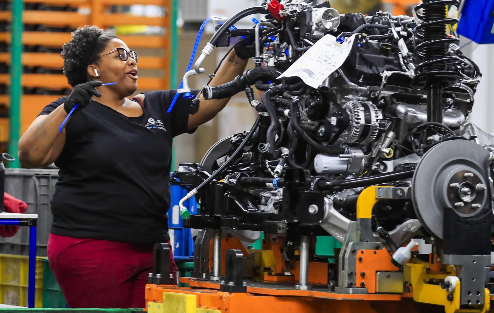 USA: linia montażowa w zakładzie montażowym Ford Motor Company w Chicago, fot. TANNEN MAURY, PAP /EPA