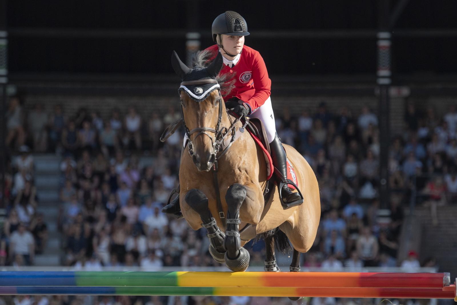 Zawody jeździeckie w Sztokholmie. Fot. PAP/EPA/Jessica Gow
