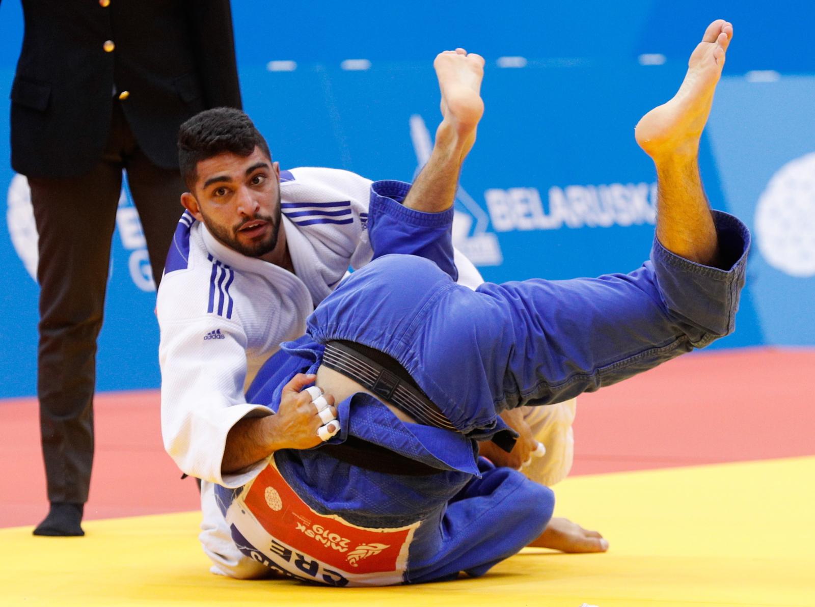 Zawody judo na Białorusi. Fot. PAP/EPA/SERGEY DOLZHENKO