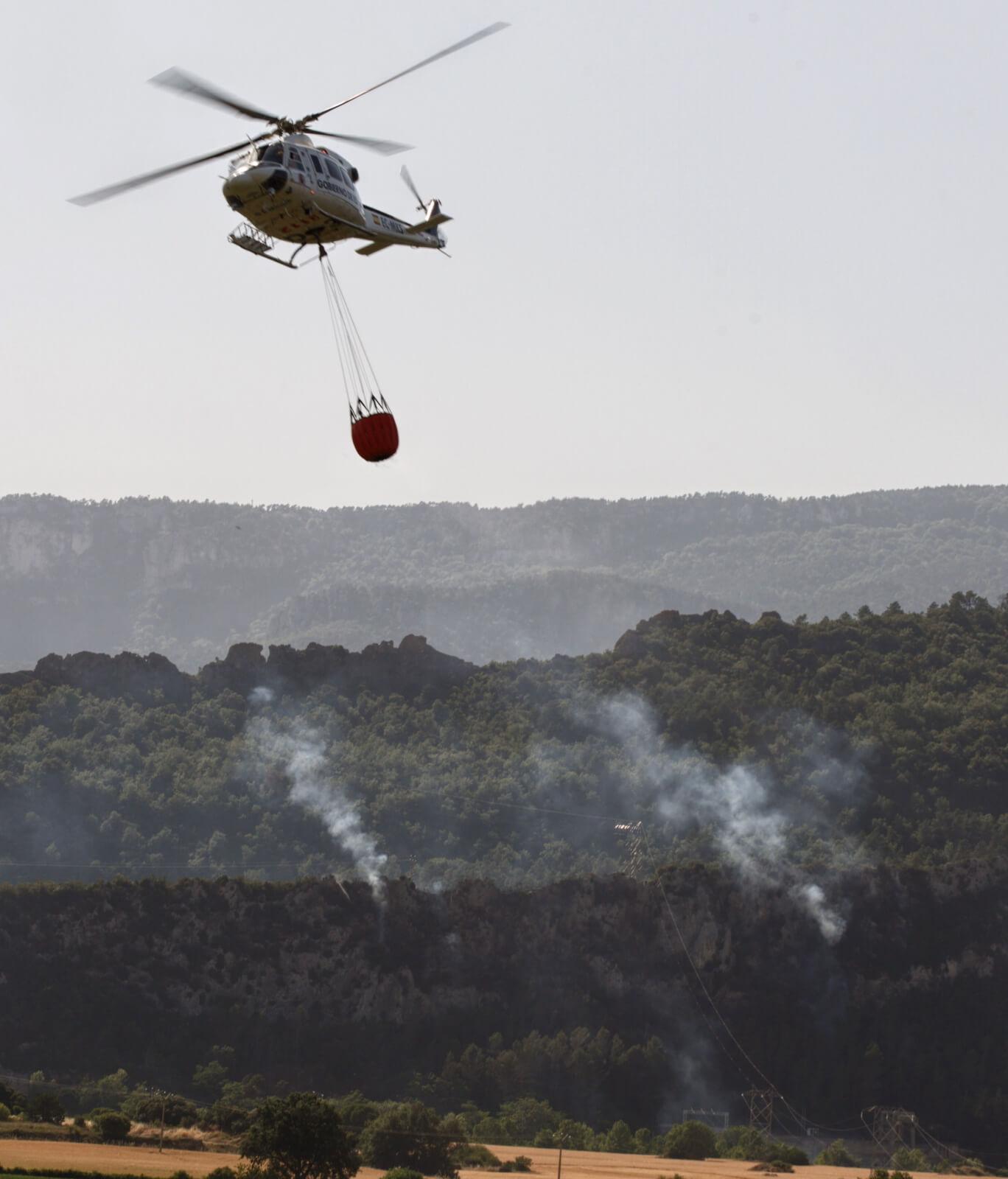 Pożary lasów w Hiszpanii fot. EPA/David Aguilar