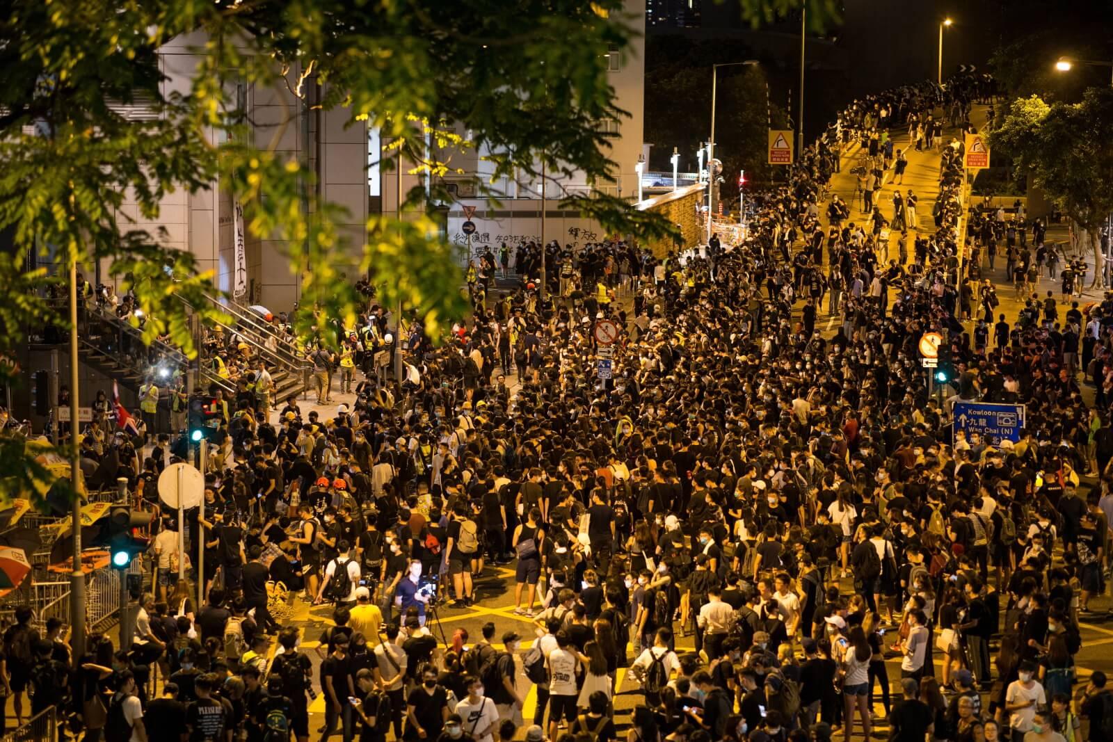 Protesty w Hong Kongu wciąż trawją fot. EPA/JEROME FAVRE