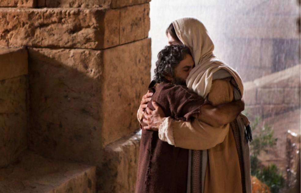 jezus przytula