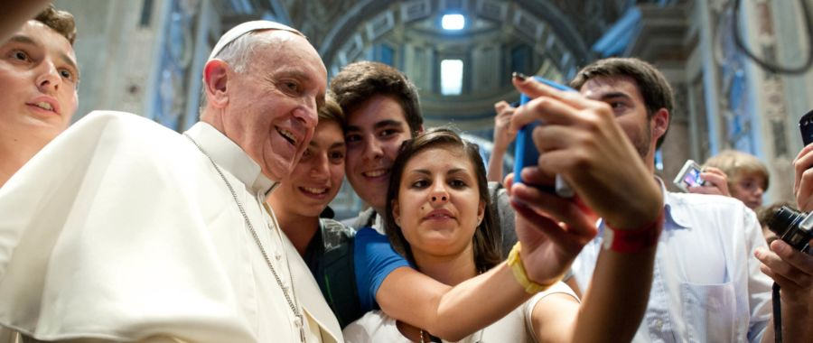 papież Franciszek selfie