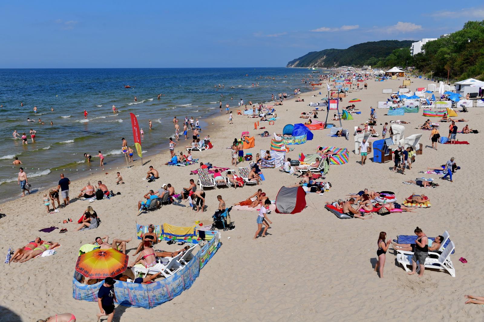Lato w Międzyzdrojach. Fot. PAP/Marcin Bielecki