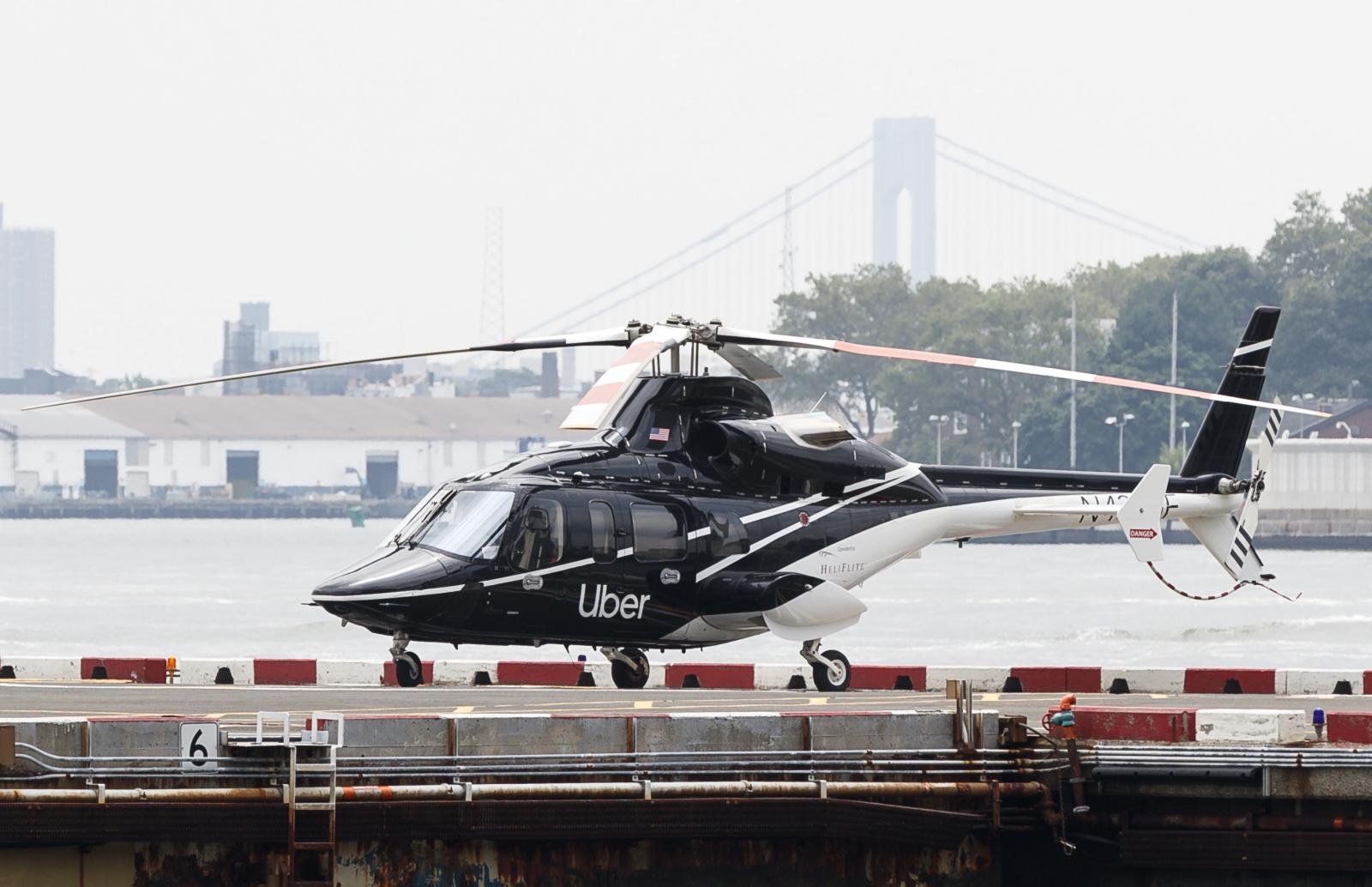 Serwisowany helikopter Fot. EPA/JUSTIN LANE