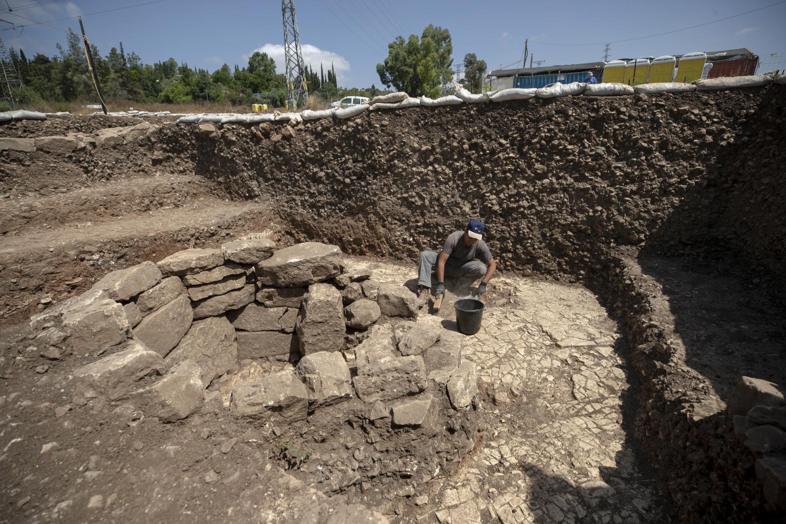 Wykopaliska na stanowiskach prehistorycznych w Izraelu fot. EPA/ATEF SAFADI