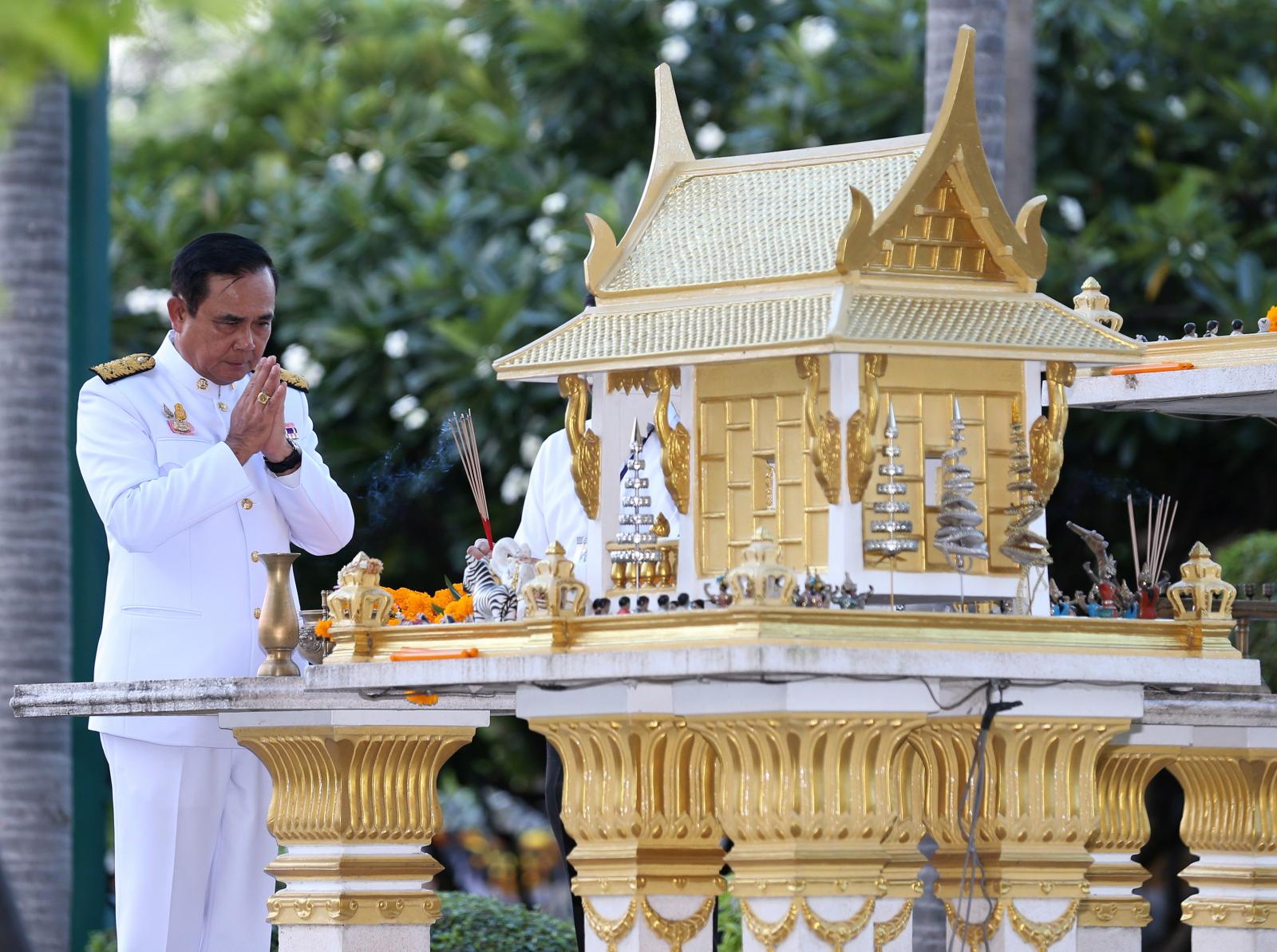 Król Tajladnii fot. EPA/NARONG SANGNAK