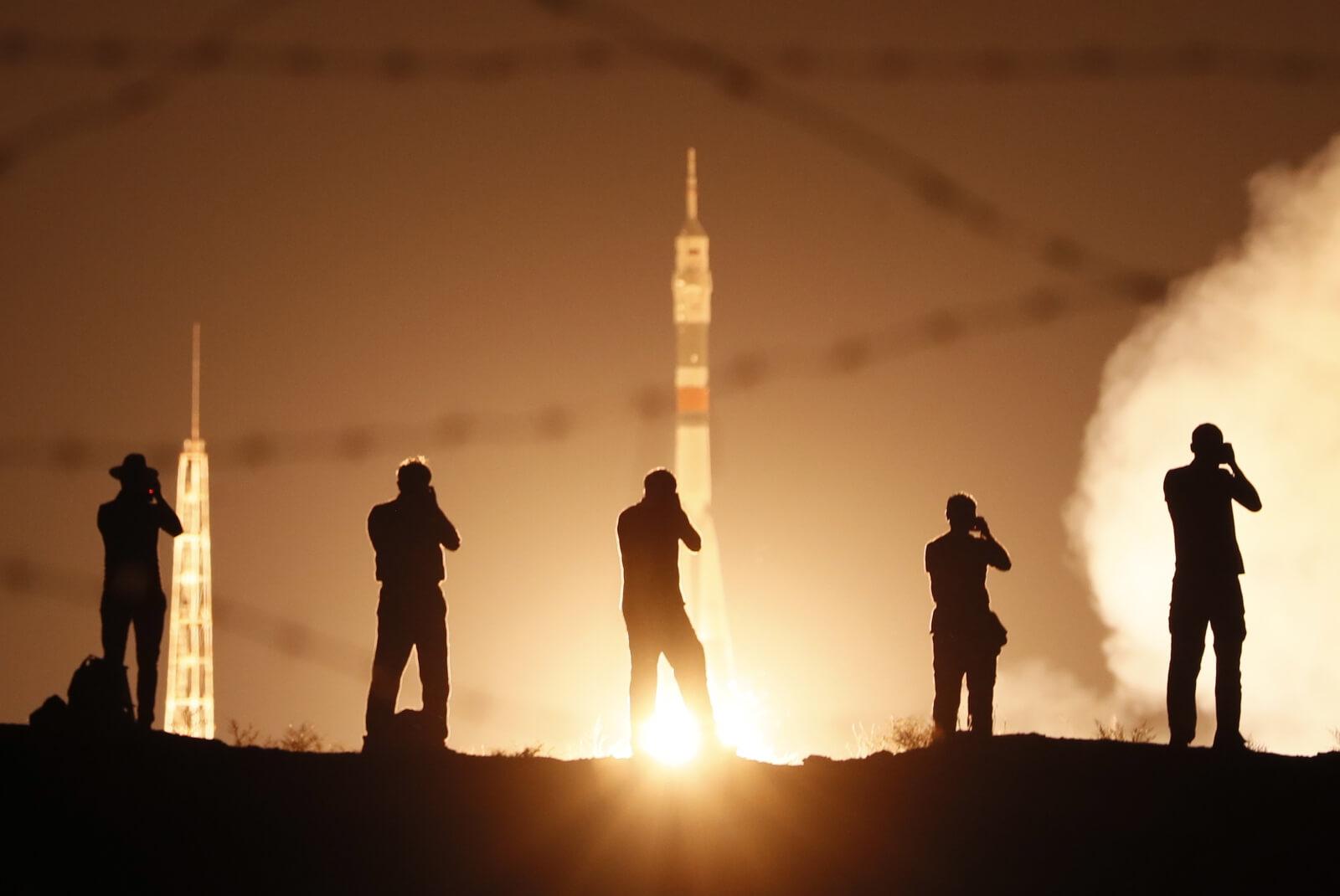 Wyruszyła kolejna misja Soyuz zmierzająca do MSK fot. EPA/YURI KOCHETKOV