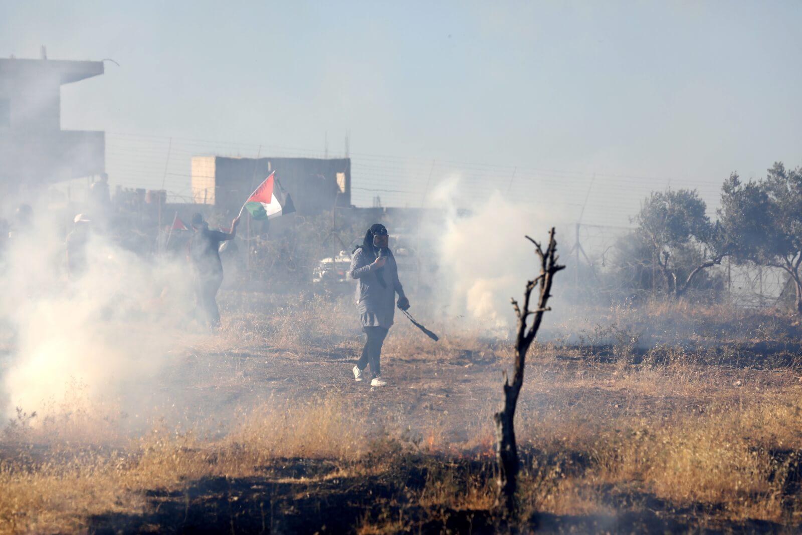 Protesty w Palestynie fot. EPA/ABED AL HASHLAMOUN