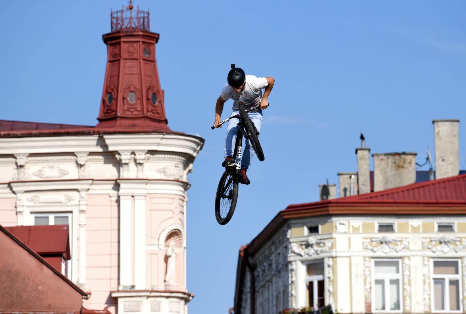 Festiwal Rowerowy Bike Town w Przemyślu Fot. PAP/Darek Delmanowicz