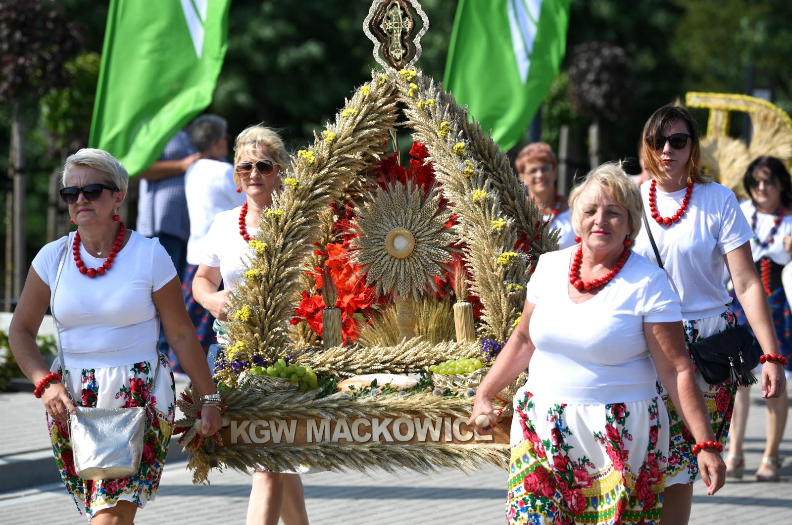 Dożynki Województwa Podkarpackiego Archidiecezji Przemyskiej PAP/Darek Delmanowicz