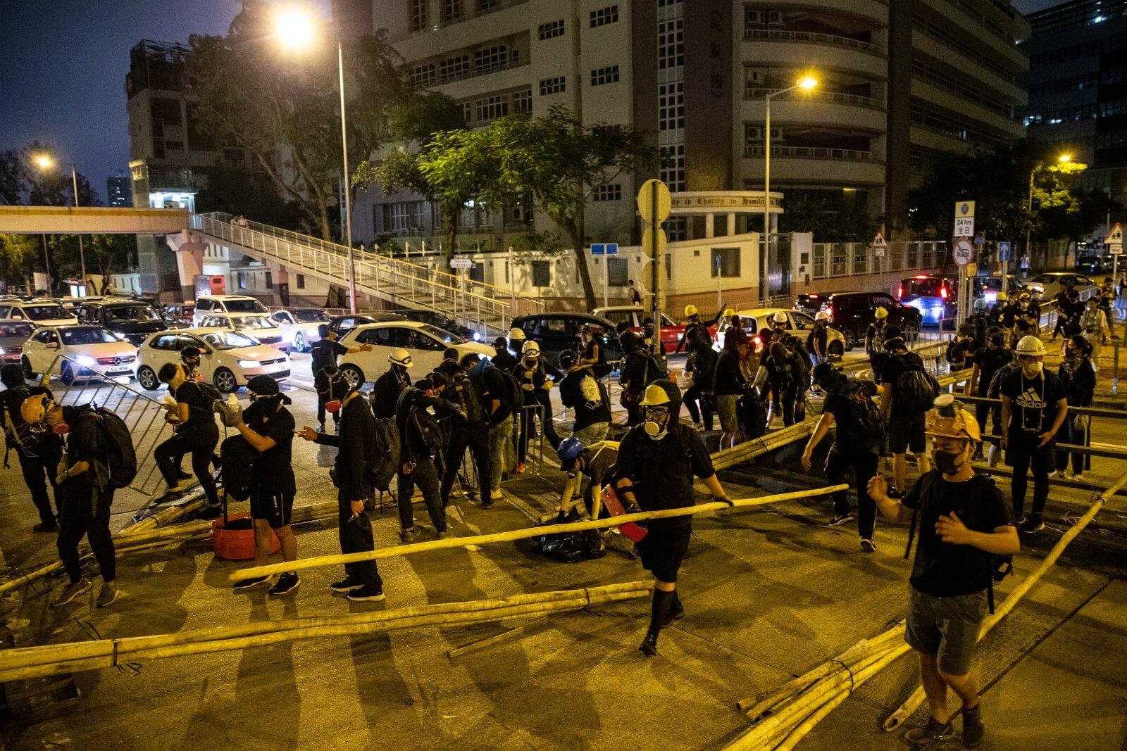 Antyrządowe protesty w Chinach ciągle trwają fot. EPA/CHAN LONG HEI