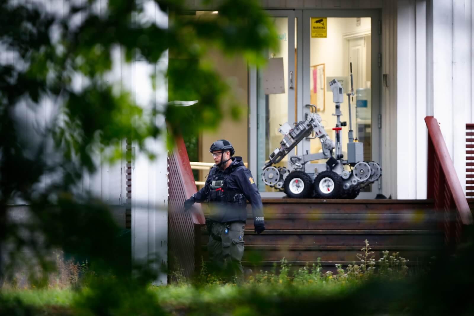 Strzelanina w norweskim meczecie fot. EPA/TERJE PEDERSEN