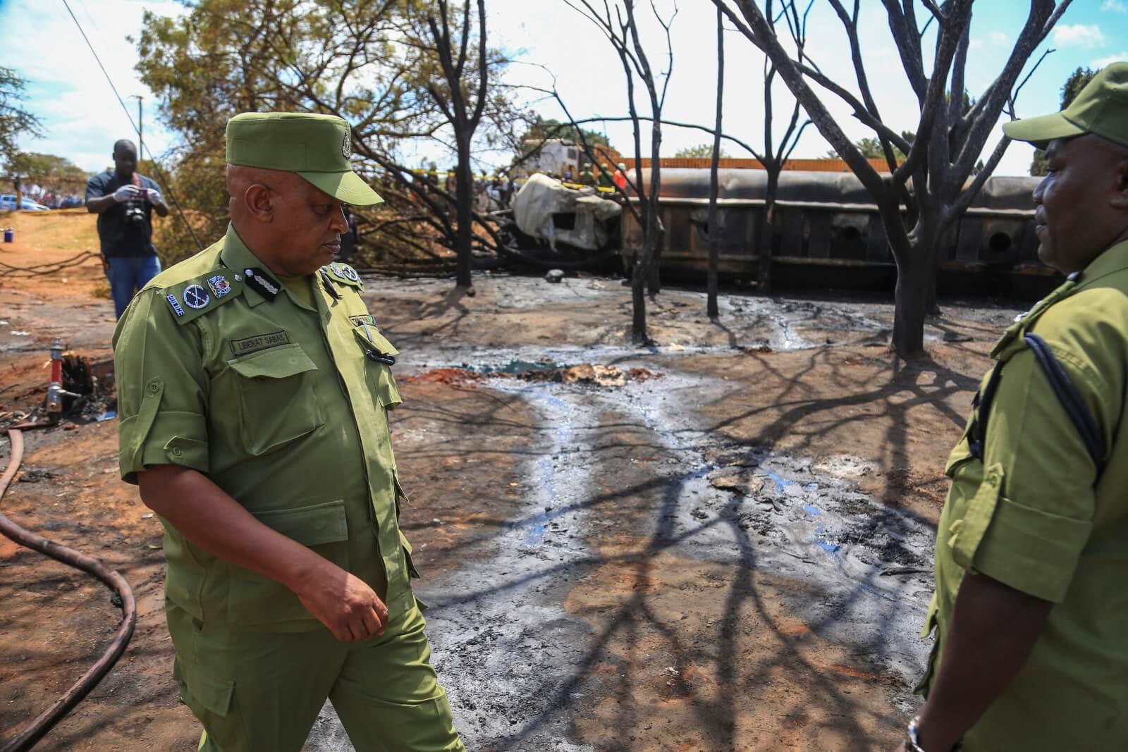 Wybuch tankowca w Tanzanii fot. EPA/MBAROUK KHAAN