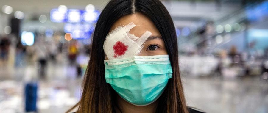 Antyrządowe protesty w Hongkongu fot. EPA/LAUREL CHOR
