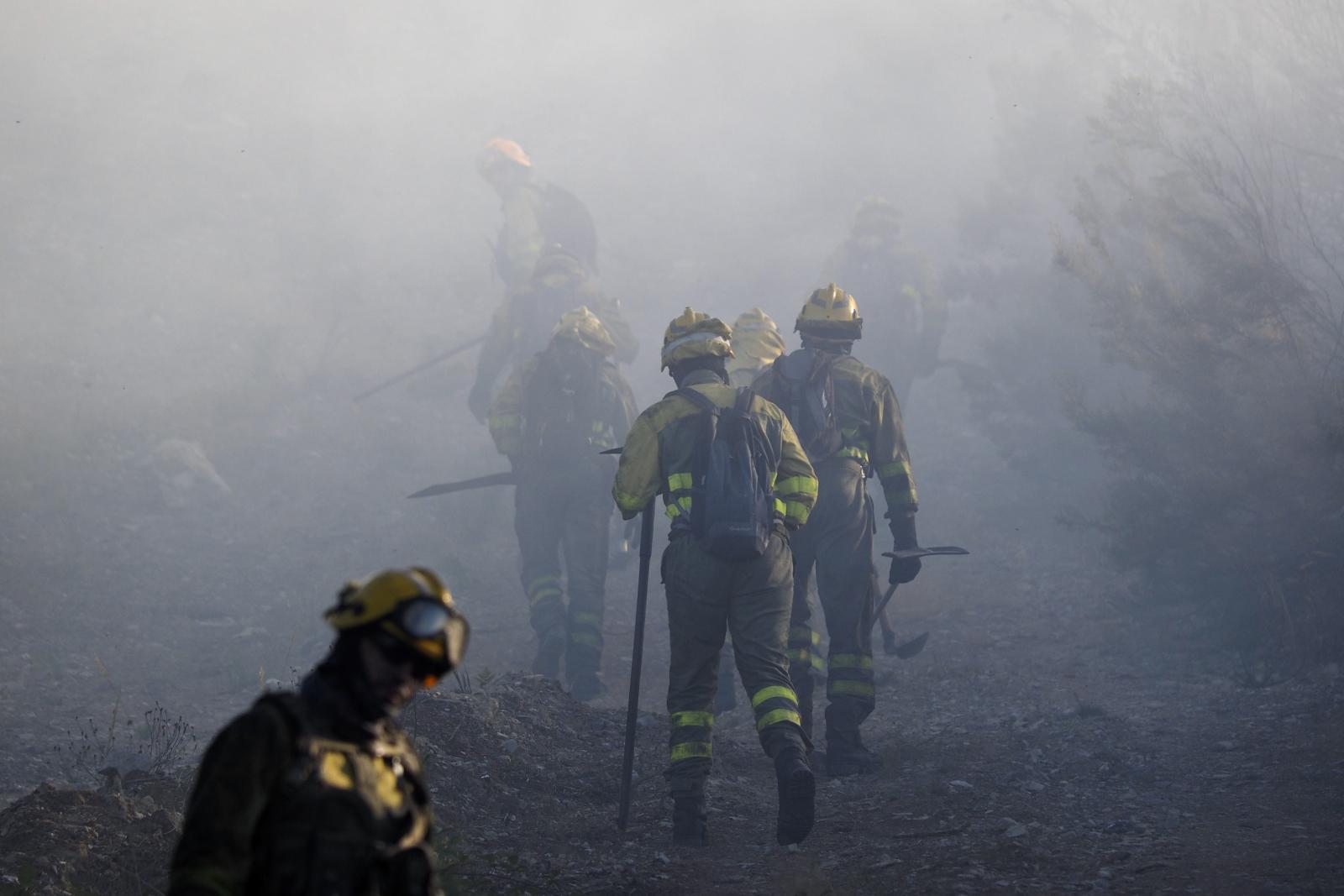 Pożary w Hiszpanii. fot. EPA/ELISEO TRIGO