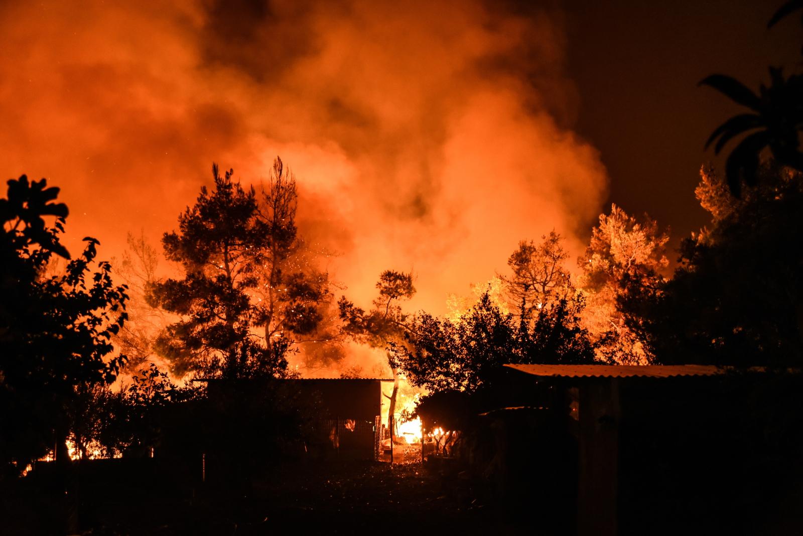 Ogromny pożar w Grecji Fot. EPA/WASSILIS ASWESTOPOULOS