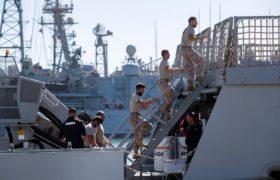 Migranci na Morzu Śródziemnym fot. EPA/Roman Rios
