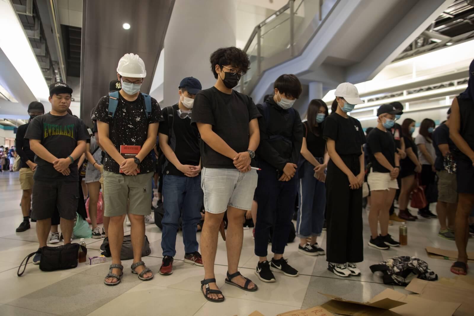 Protesty w Hongongu trwają nieustannie fot. EPA/ROMAN PILIPEY