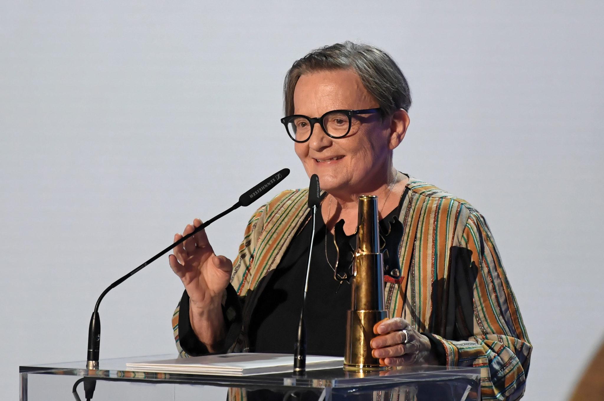 Reżyserka Agnieszka Holland z nagrodą Złote Lwy za film