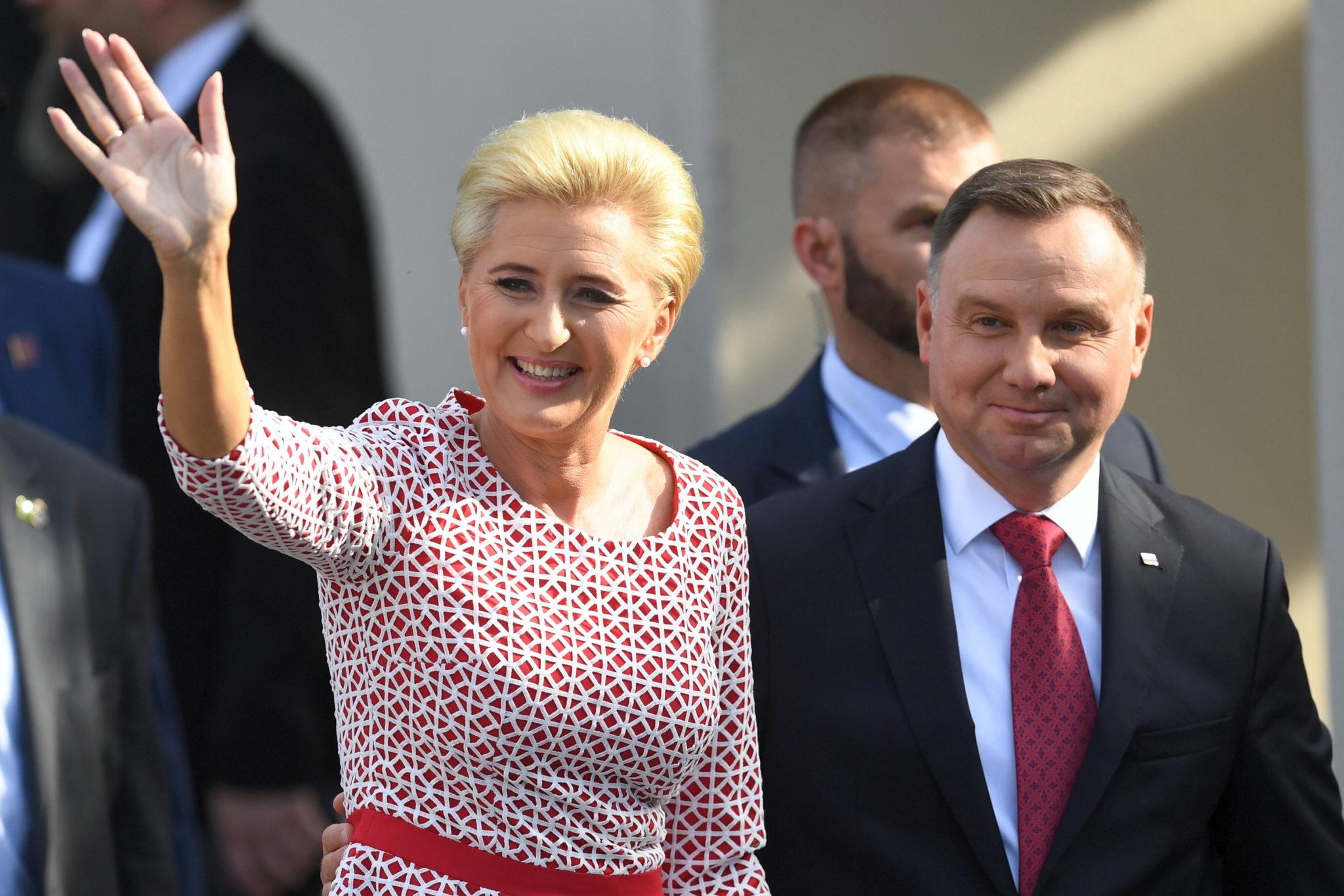 USA: Prezydent Andrzej Duda  i pierwsza dama wzięli udział w spotkaniu z Polonią, jutro prezydent weźmie udział w debacie generalnej 74. sesji Zgromadzenia Ogólnego ONZ, fot. Radek Pietruszka, PAP