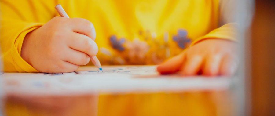 dziecko, szkoła, rysowanie