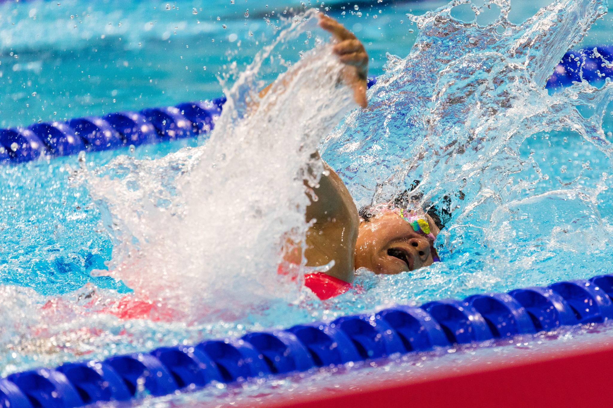 Londyn: Mayumi Narita z Japonii w finale 50 m kobiet Freestyle podczas Mistrzostw Świata w Pływaniu w ramach Paraolimpiady, fot. VICKIE FLORES, PAP/EPA
