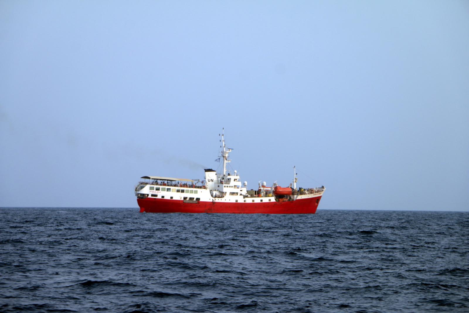 Statek w Jemenie fot.  EPA/STRINGER