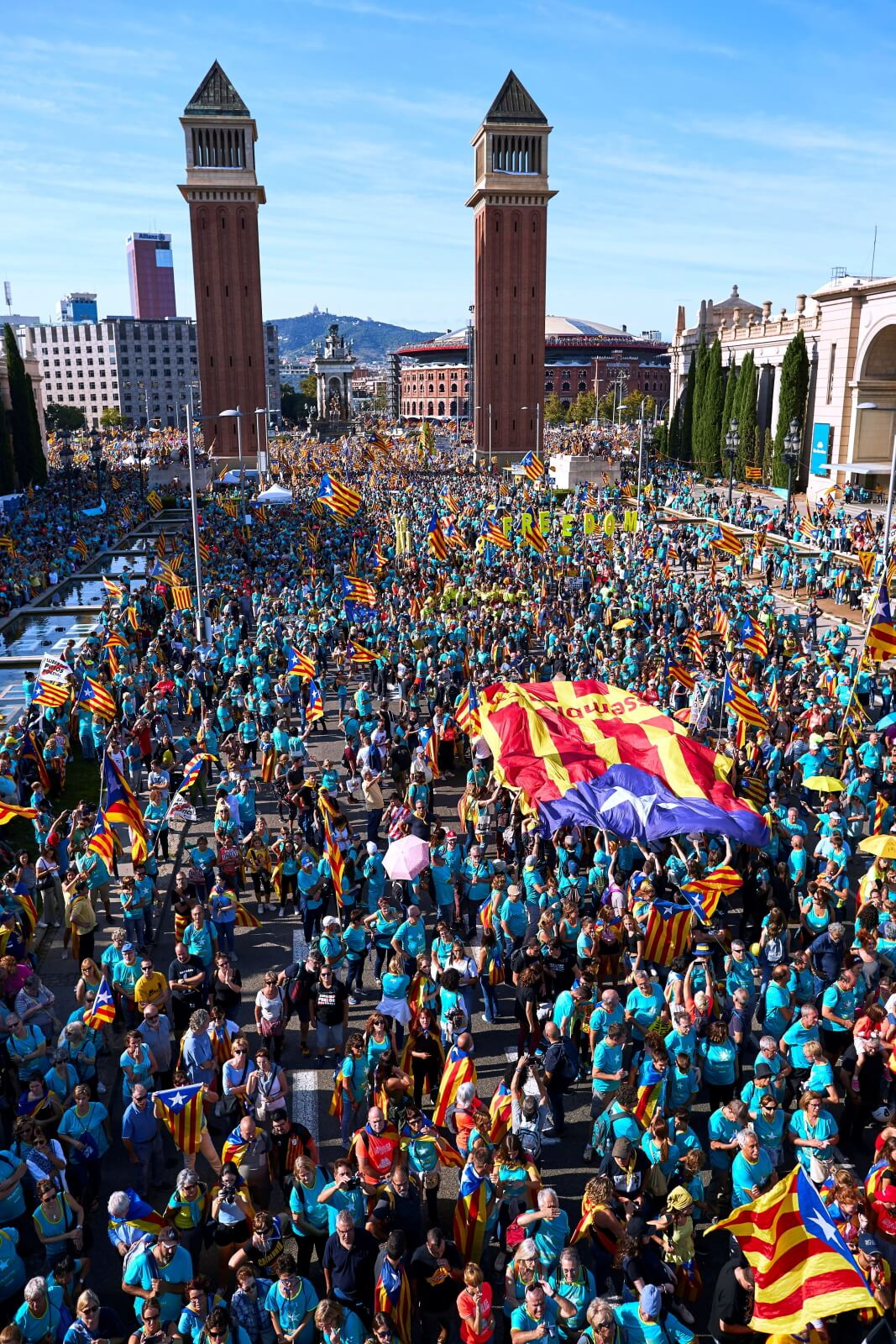 Dzień niepodległości Katalonii fot. EPA/Alejandro Garcia