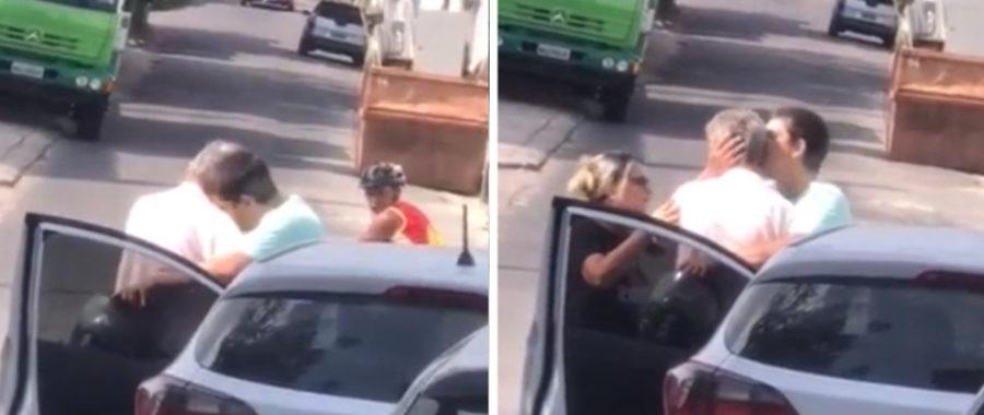 Pocałował kierowce, który go potrącił