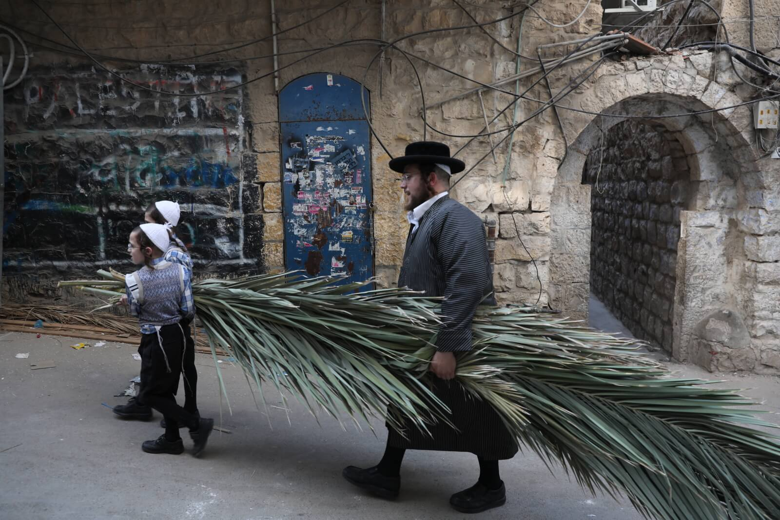 Sukkot w Izraelu fot. EPA/ABIR SULTAN