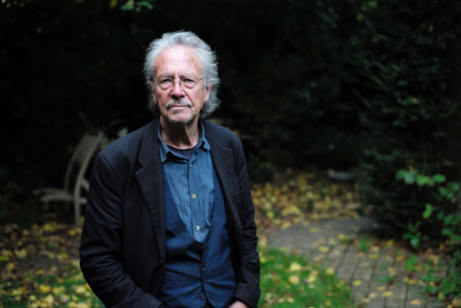 Peter Handke laureatem literackiego Nobla 2019 fot. EPA/JULIEN DE ROSA
