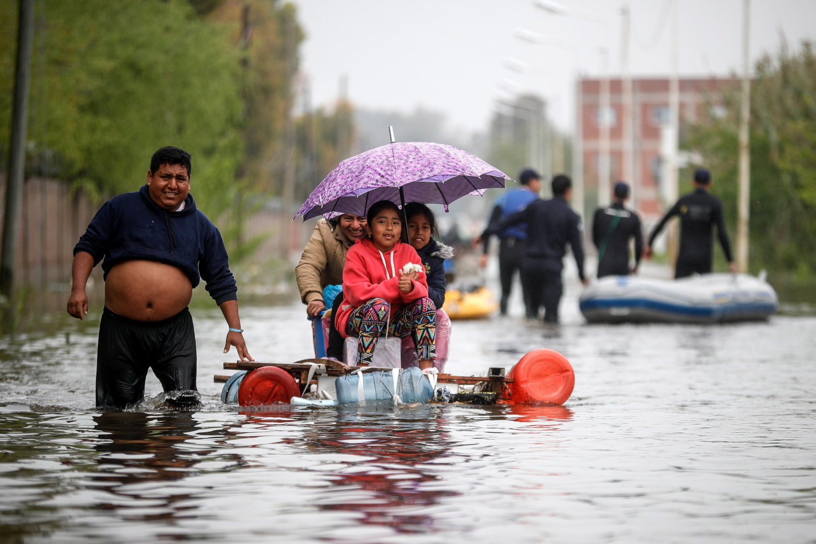 Powódź w Argentynie EPA/Juan Ignacio Roncoroni