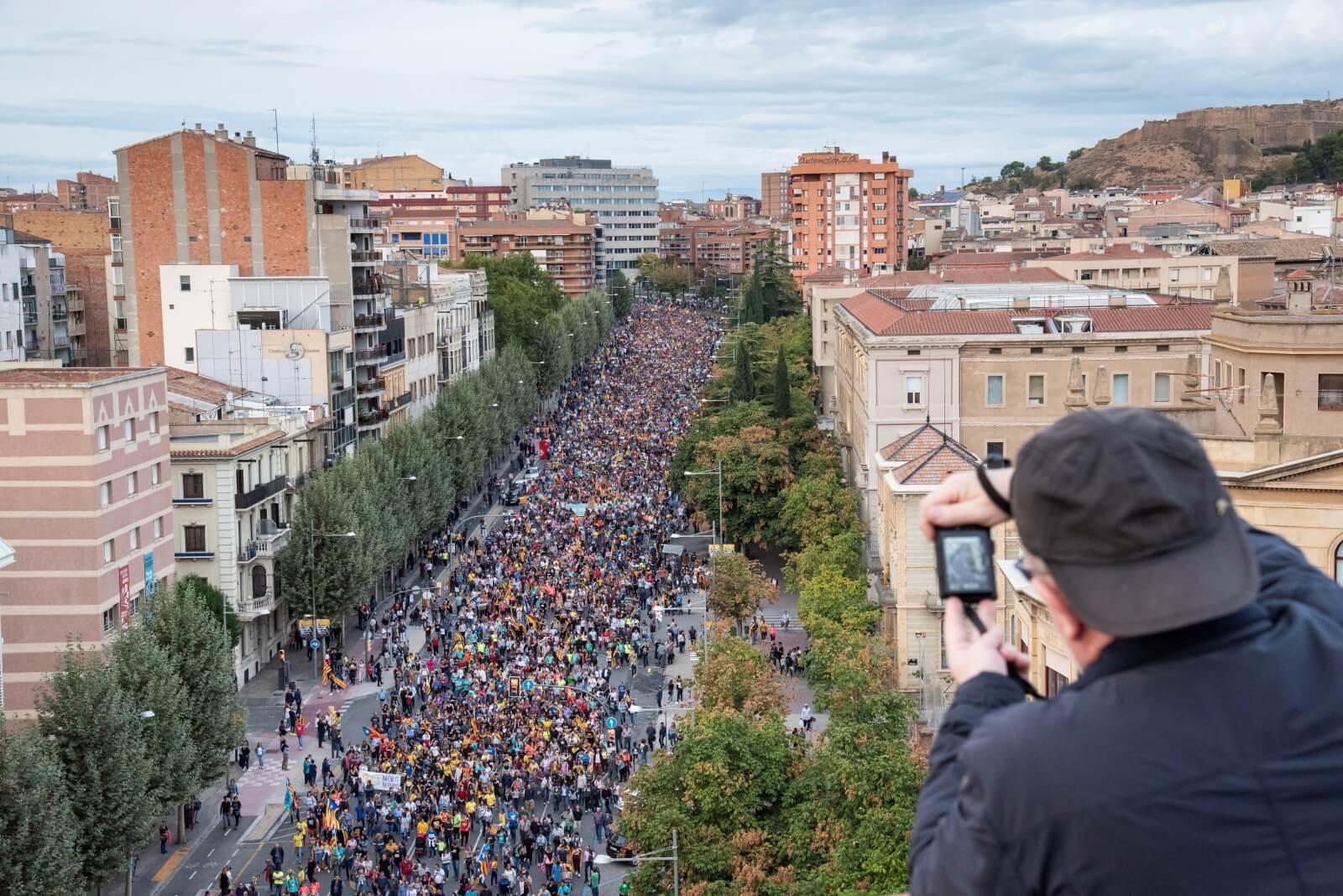 Protest w Katalonii