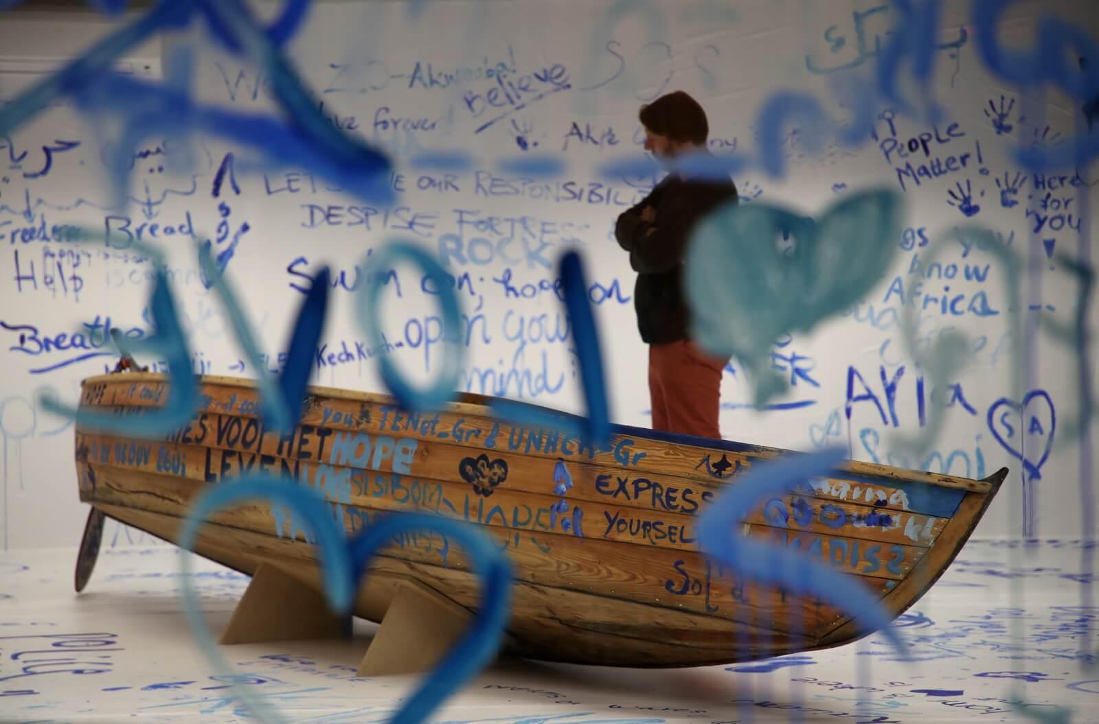 Wystawa ku pamięci uchodźców fot. EPA/FRIEDEMANN VOGEL