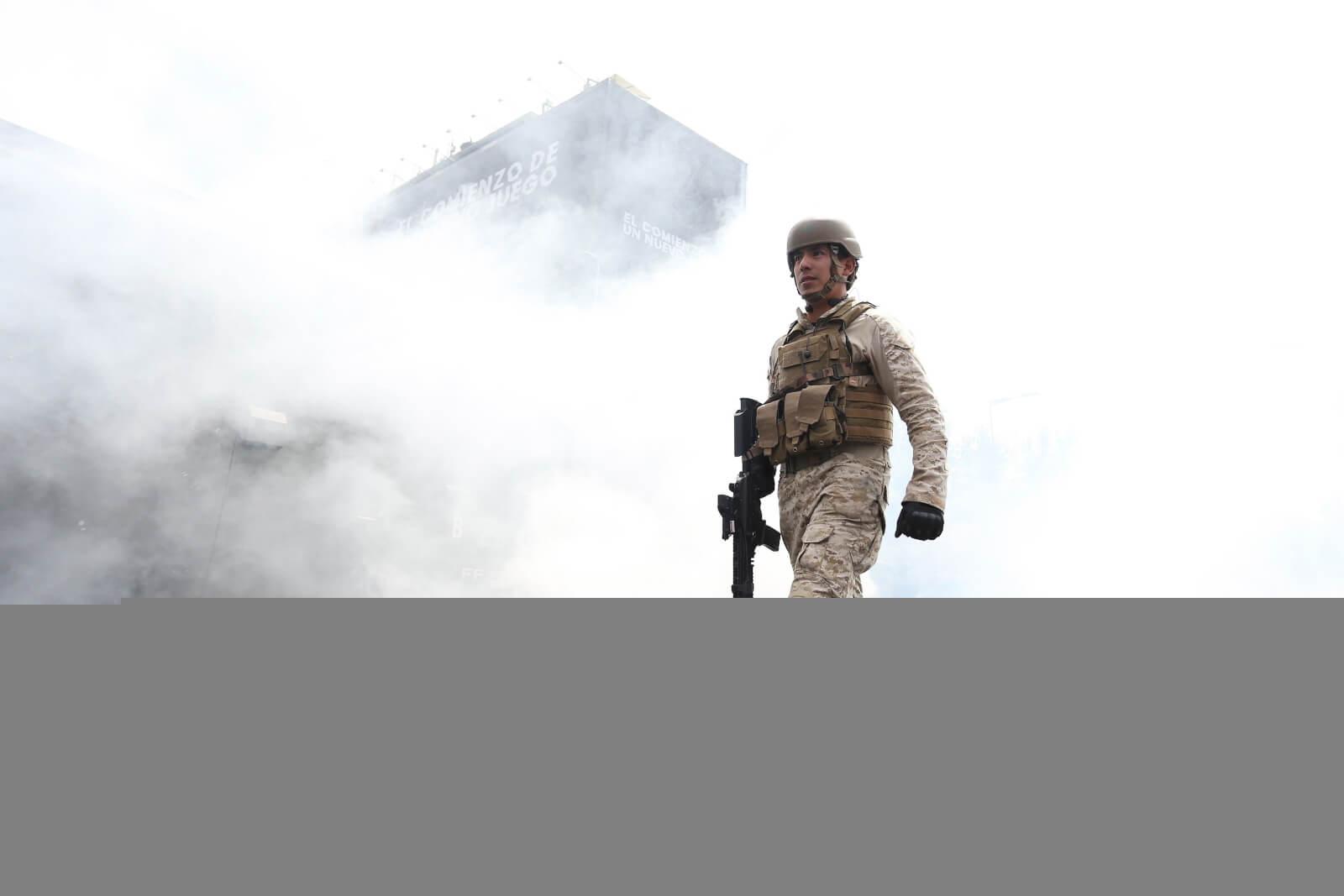 Niebezpieczne protesty w Chile fot. EPA/ELVIS GONZALEZ