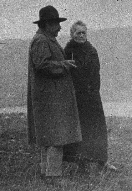 Maria Skłodowska Curie i Albert Einstein